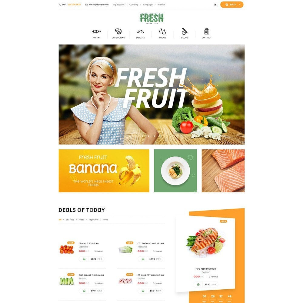 theme - Alimentos & Restaurantes - Pts Fresh - 3