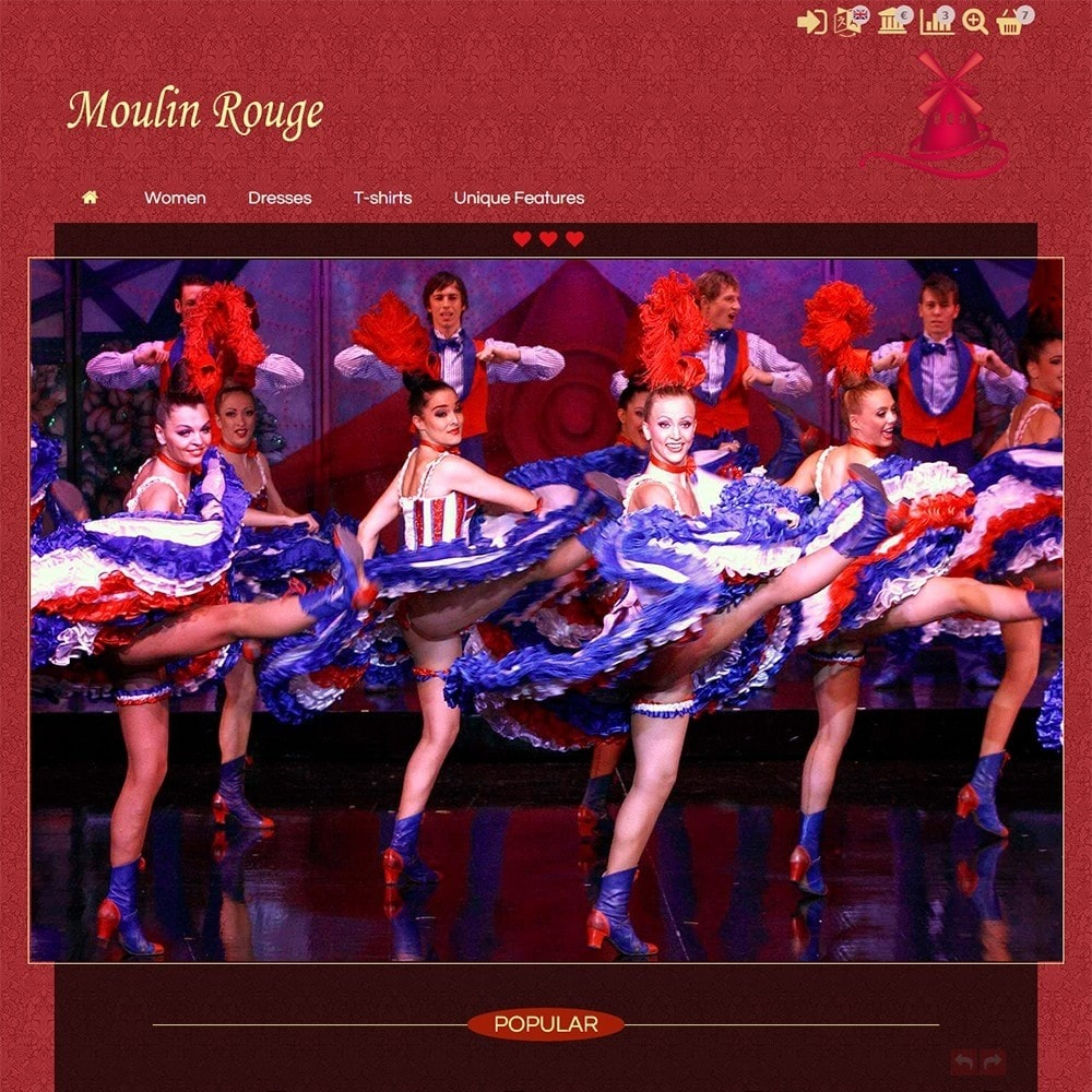 theme - Lingerie & Adulti - Moulin Rouge - 2