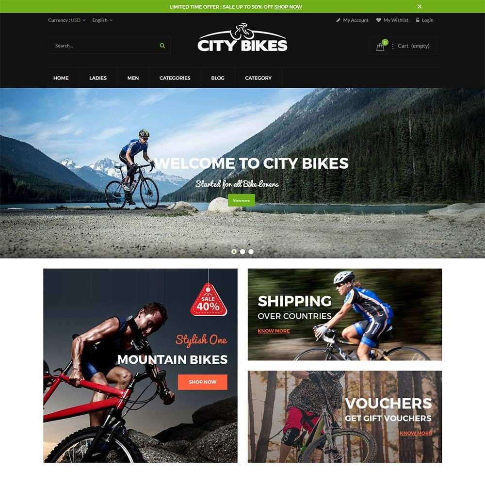 theme - Sports, Activities & Travel - Citybikes Sport Gear - 5