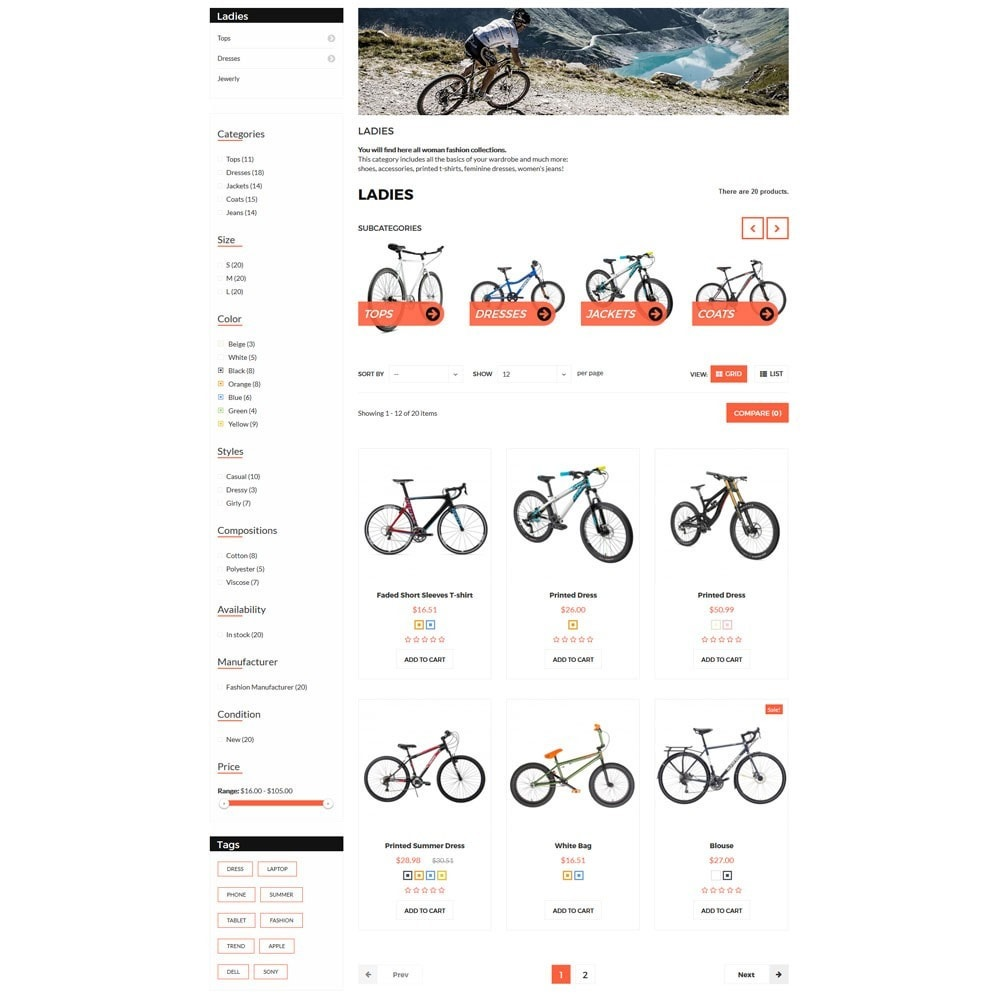 theme - Sports, Activities & Travel - Citybikes Sport Gear - 6