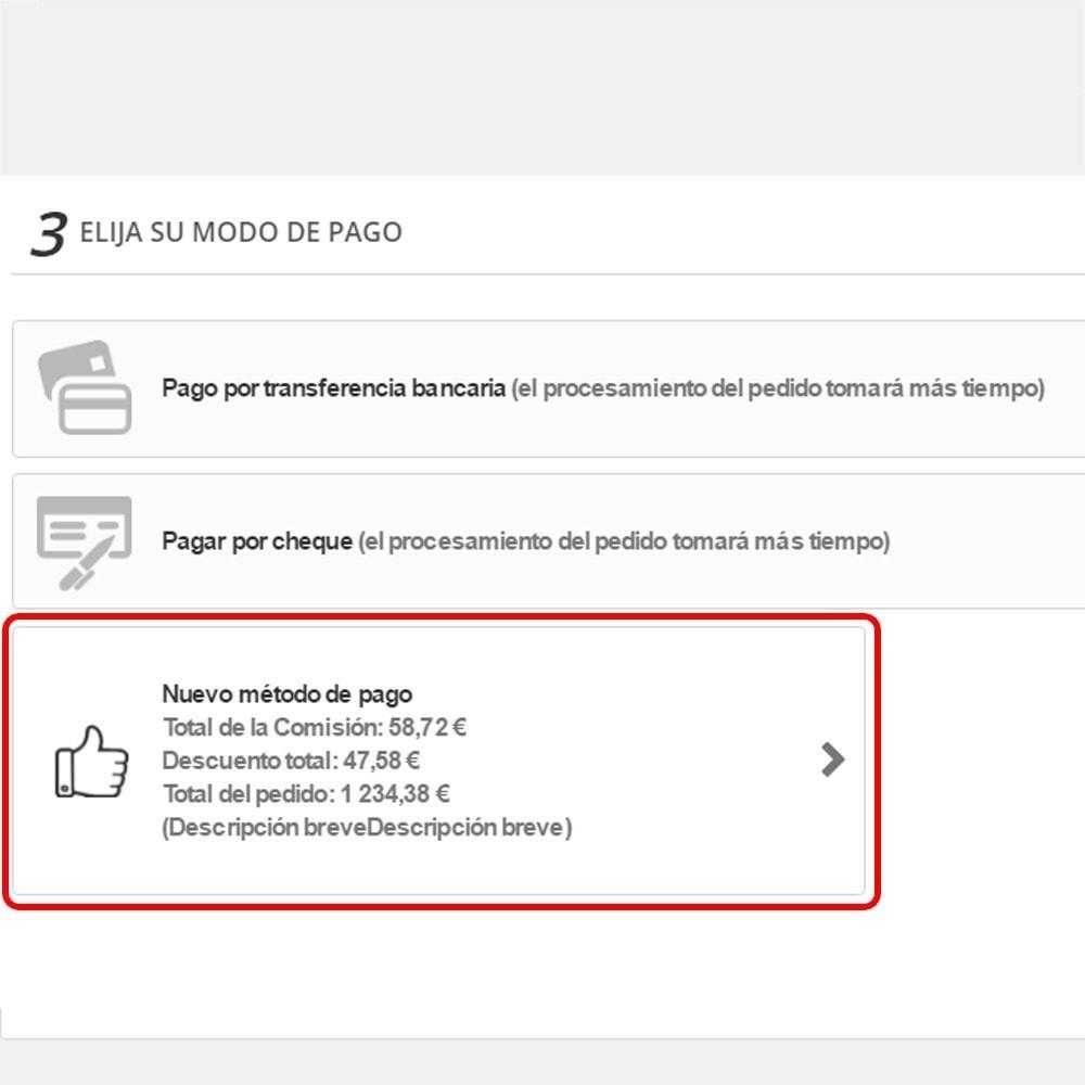 module - Otros métodos de pago - Personalizado método de pago - 5