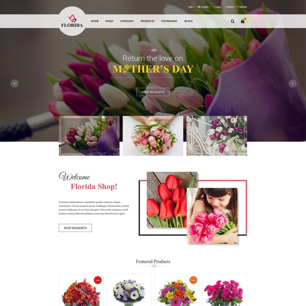 theme - Salute & Bellezza - FLORIDA | Flower Shop - 2
