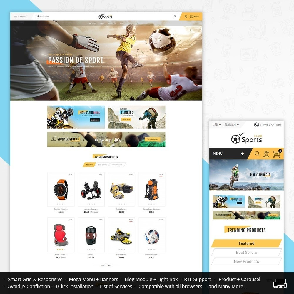 theme - Sports, Activities & Travel - Sports Store - 1