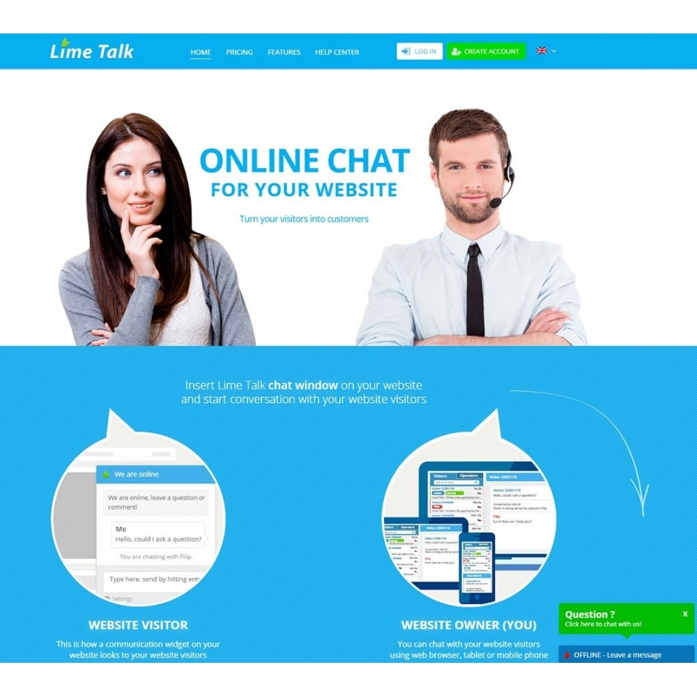 module - Supporto & Chat online - Limetalk - Online chat support - 2