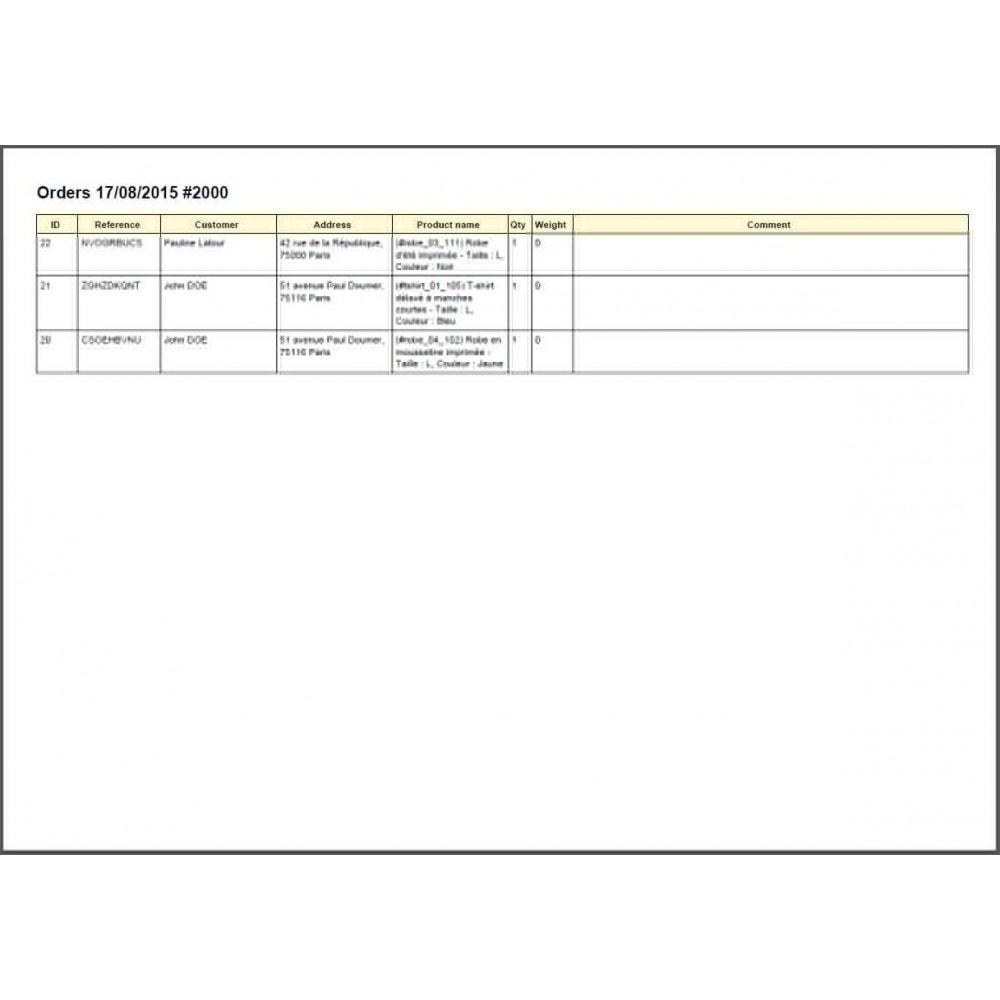 module - Préparation & Expédition - SoNice - Etiquetage Colissimo - 17