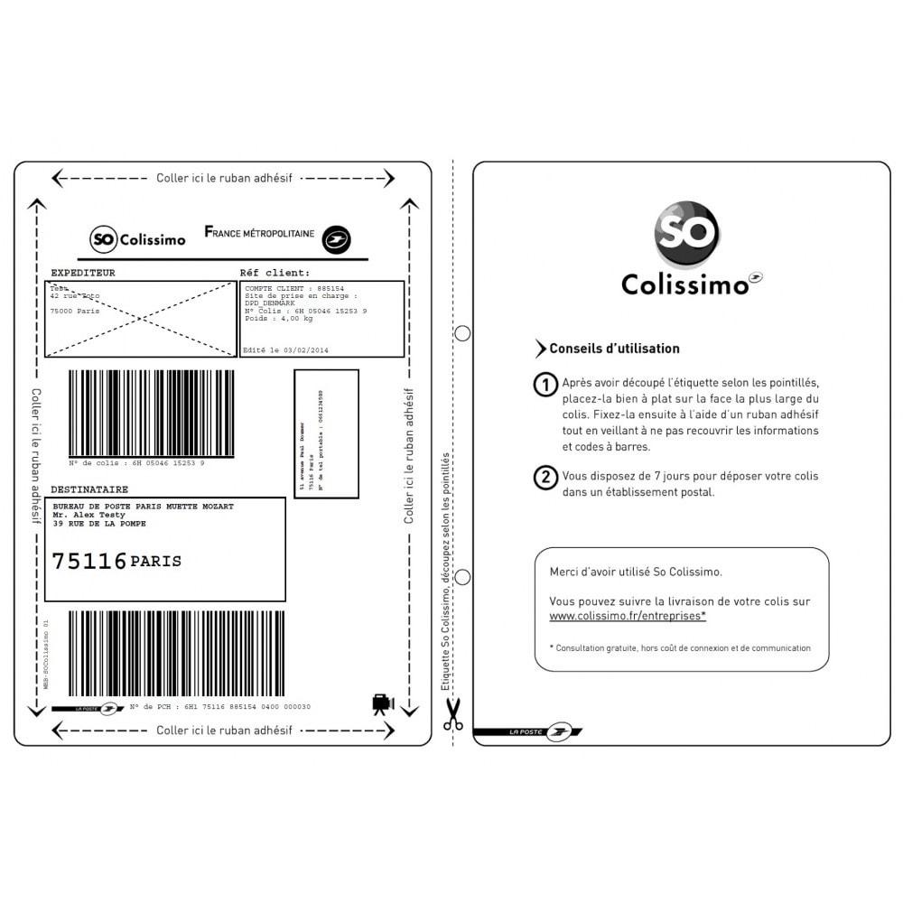 module - Préparation & Expédition - SoNice - Etiquetage Colissimo - 18