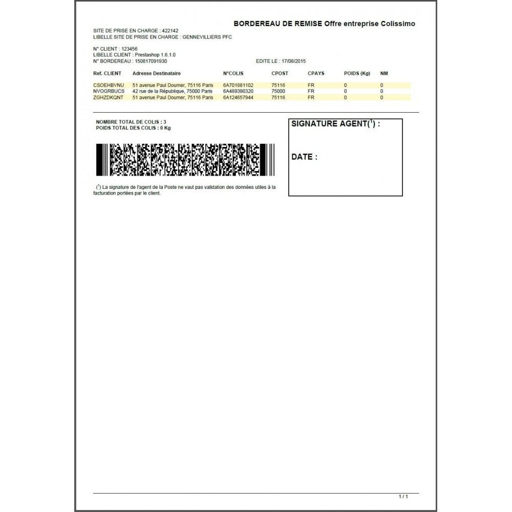 module - Préparation & Expédition - Colissimo Etiquetage / Sonice - 20