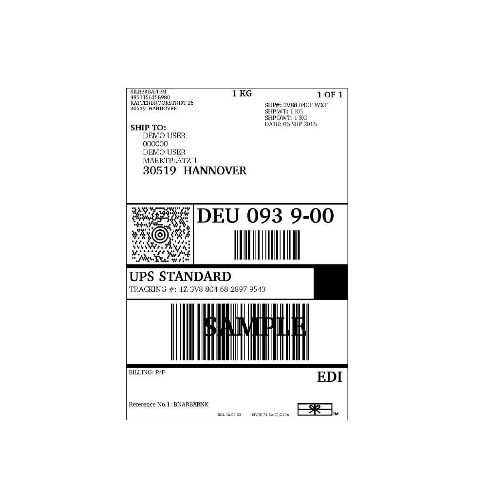 module - Versanddienstleister - UPS Service Connector - 1