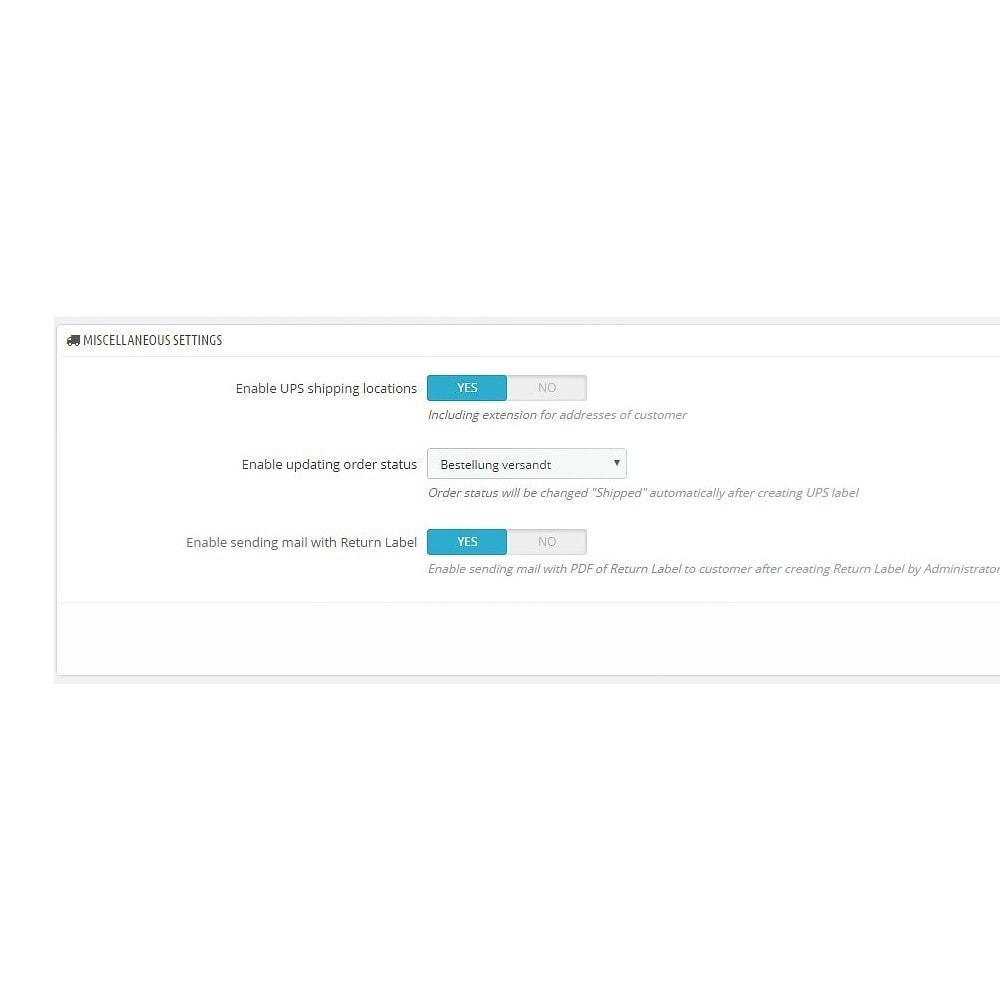 module - Versanddienstleister - UPS Service Connector - 4