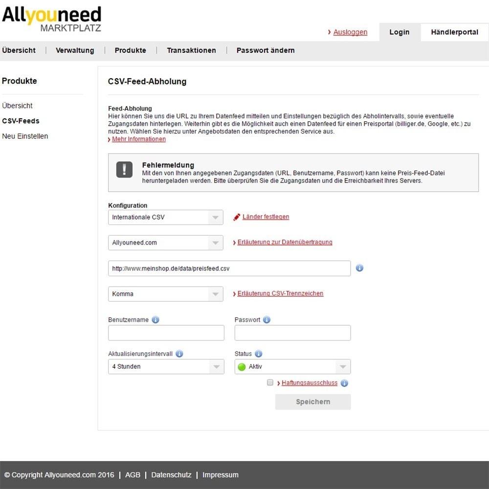 module - Marktplätze - Allyouneed Connector - 3