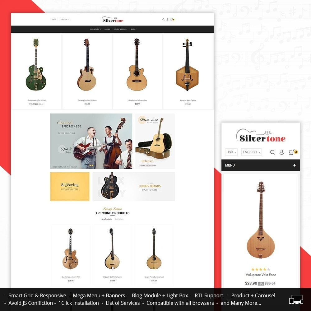 theme - Arte & Cultura - Music Instruments - 1
