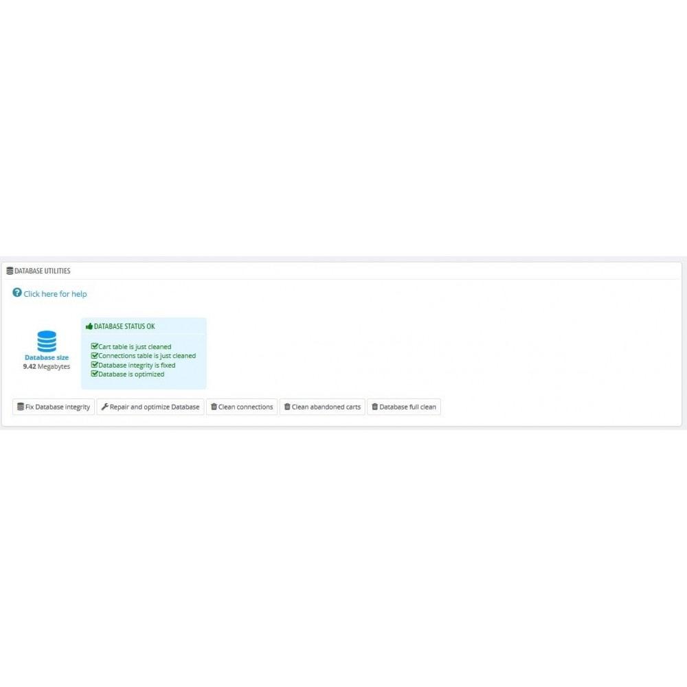 module - Rendimiento del sitio web - Security Booster - 9