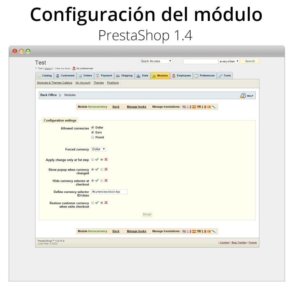 module - Inscripción y Proceso del pedido - Fuerza la moneda en el carrito - 7