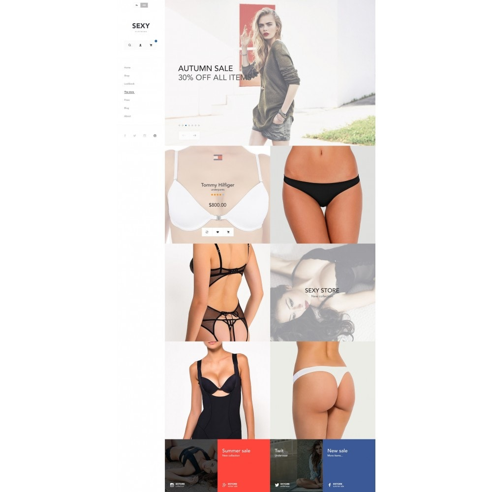 theme - Fashion & Shoes - Sexy - Lingerie Store - 3