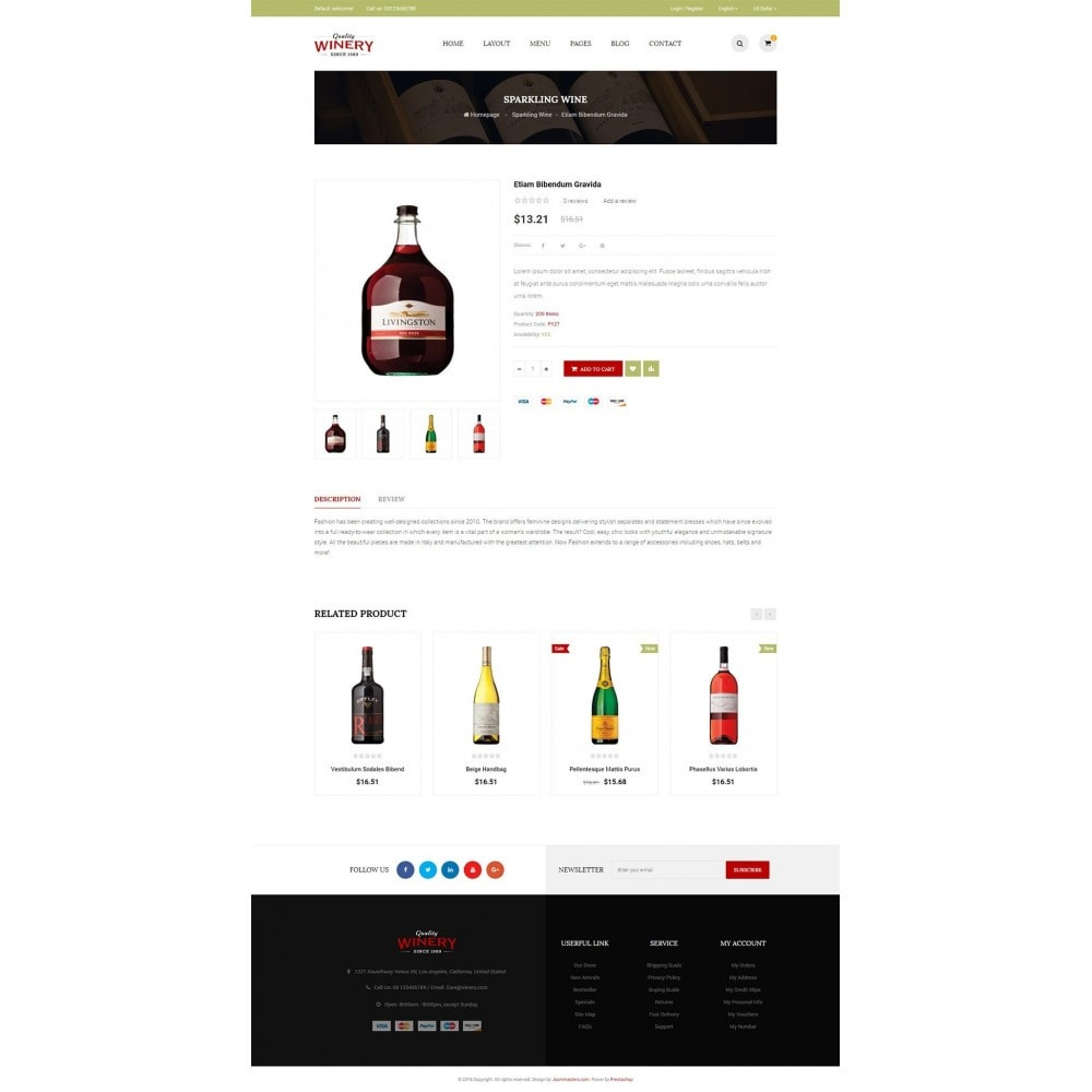 theme - Alimentation & Restauration - JMS Winery - 6