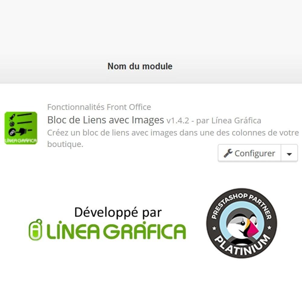module - Blocs, Onglets & Bannières - Bloc de Liens avec Images - 8