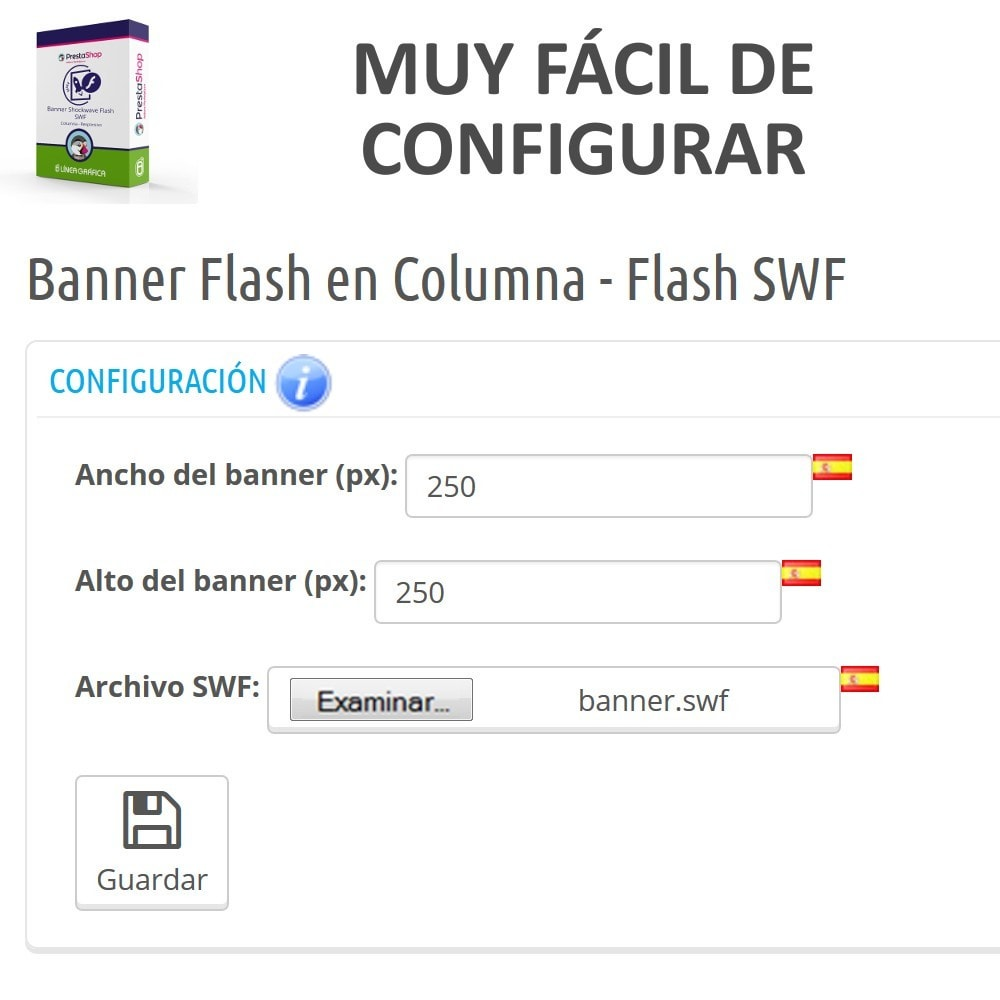module - Bloques, Pestañas y Banners - Banner Shockwave Flash SWF en Columna - 3