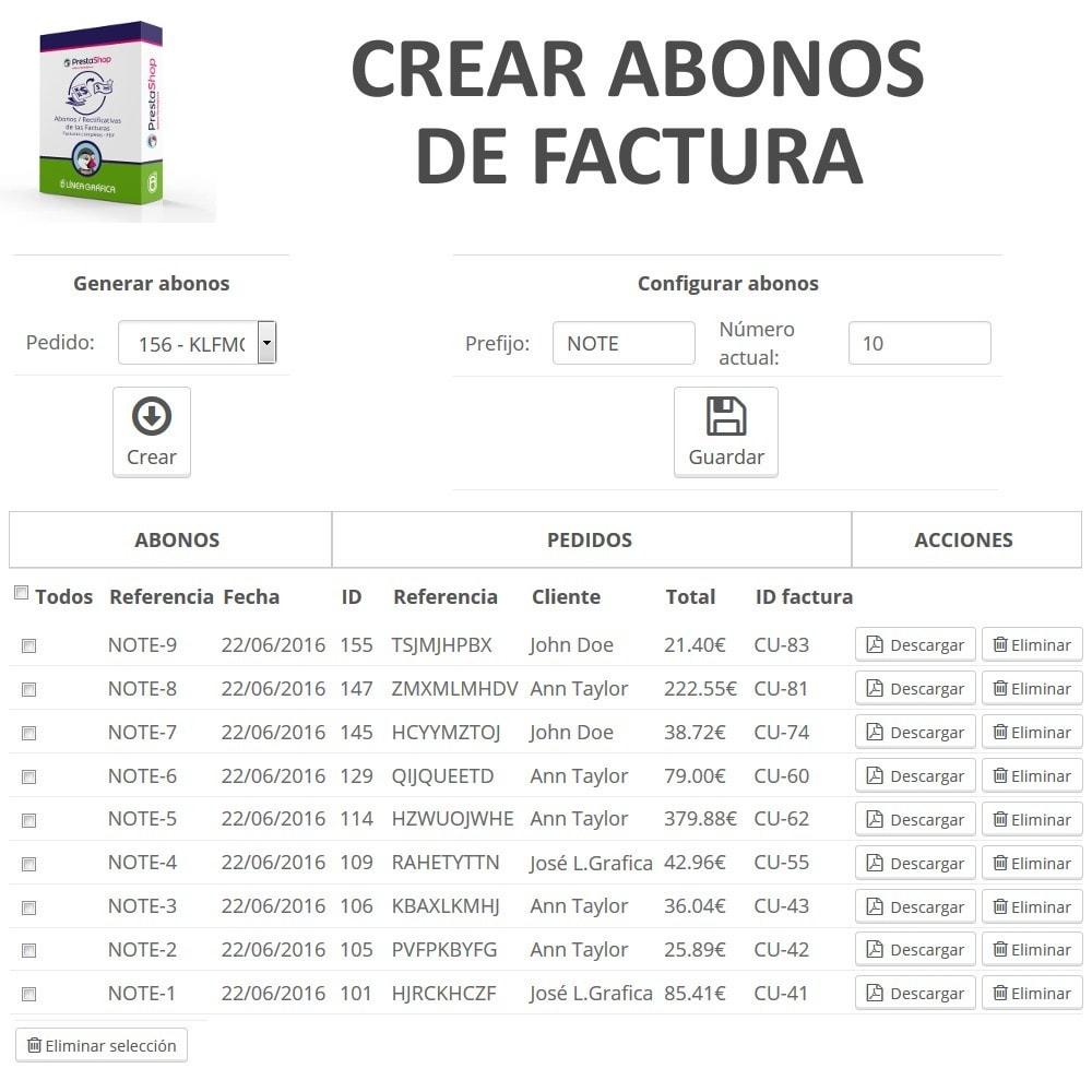 module - Contabilidad y Facturas - Abonos / Rectificativas de las Facturas Completas - PDF - 2