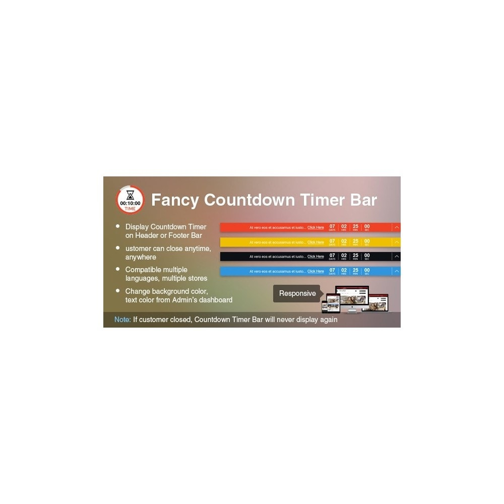 module - Ventes Flash & Ventes Privées - Professional Fancy Countdown Timer Bar - 1