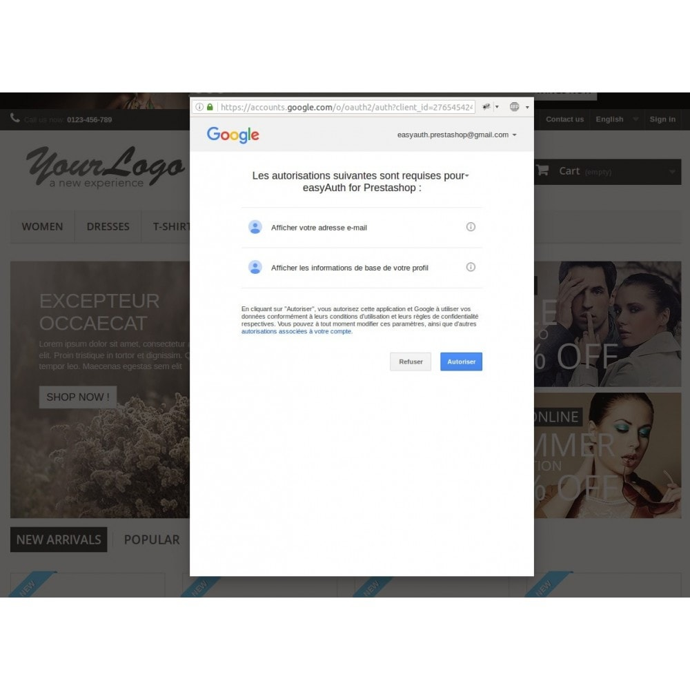 module - Boutons Login & Connect - easyAuth Social Networks Plugin (Google, Twitter...) - 4