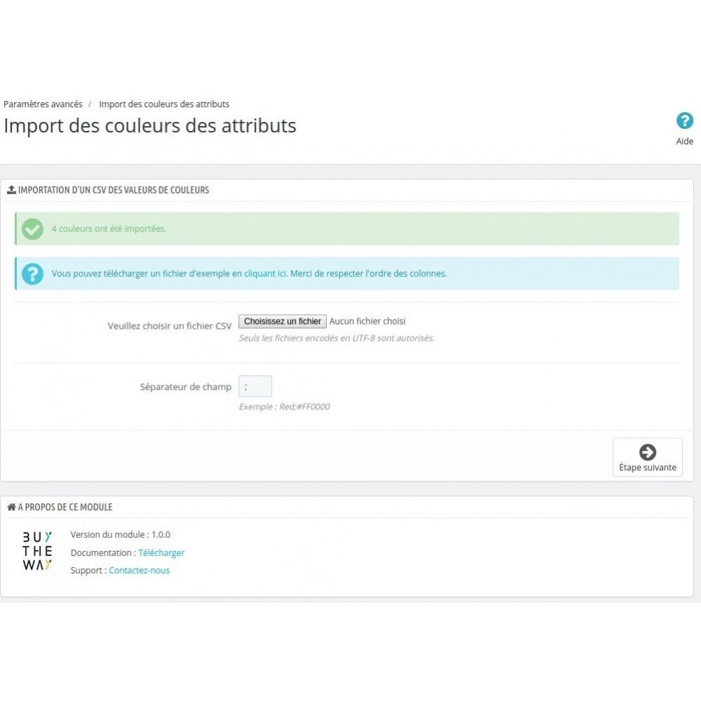 module - Déclinaisons & Personnalisation de produits - Import des couleurs de vos attributs de déclinaisons - 3