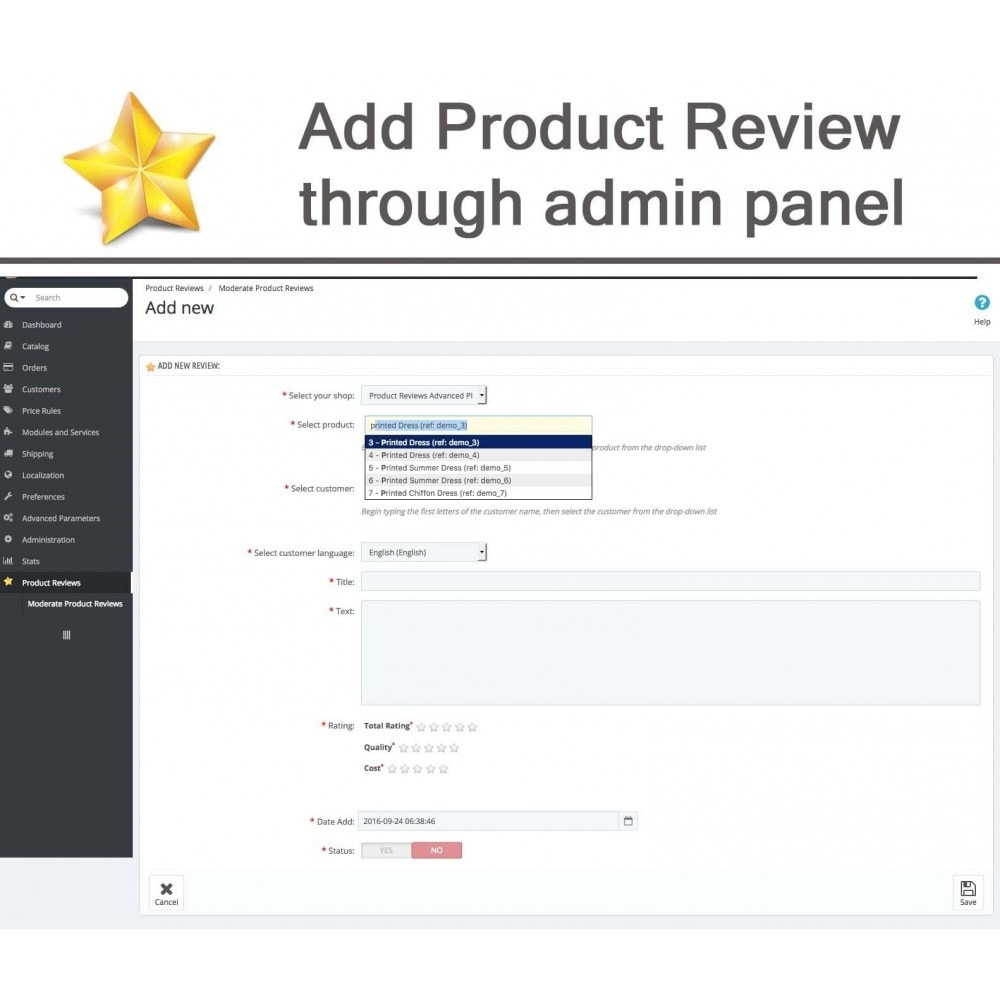 module - Opinie klientów - Product Reviews Advanced PRO + Reminder + User Profile - 37