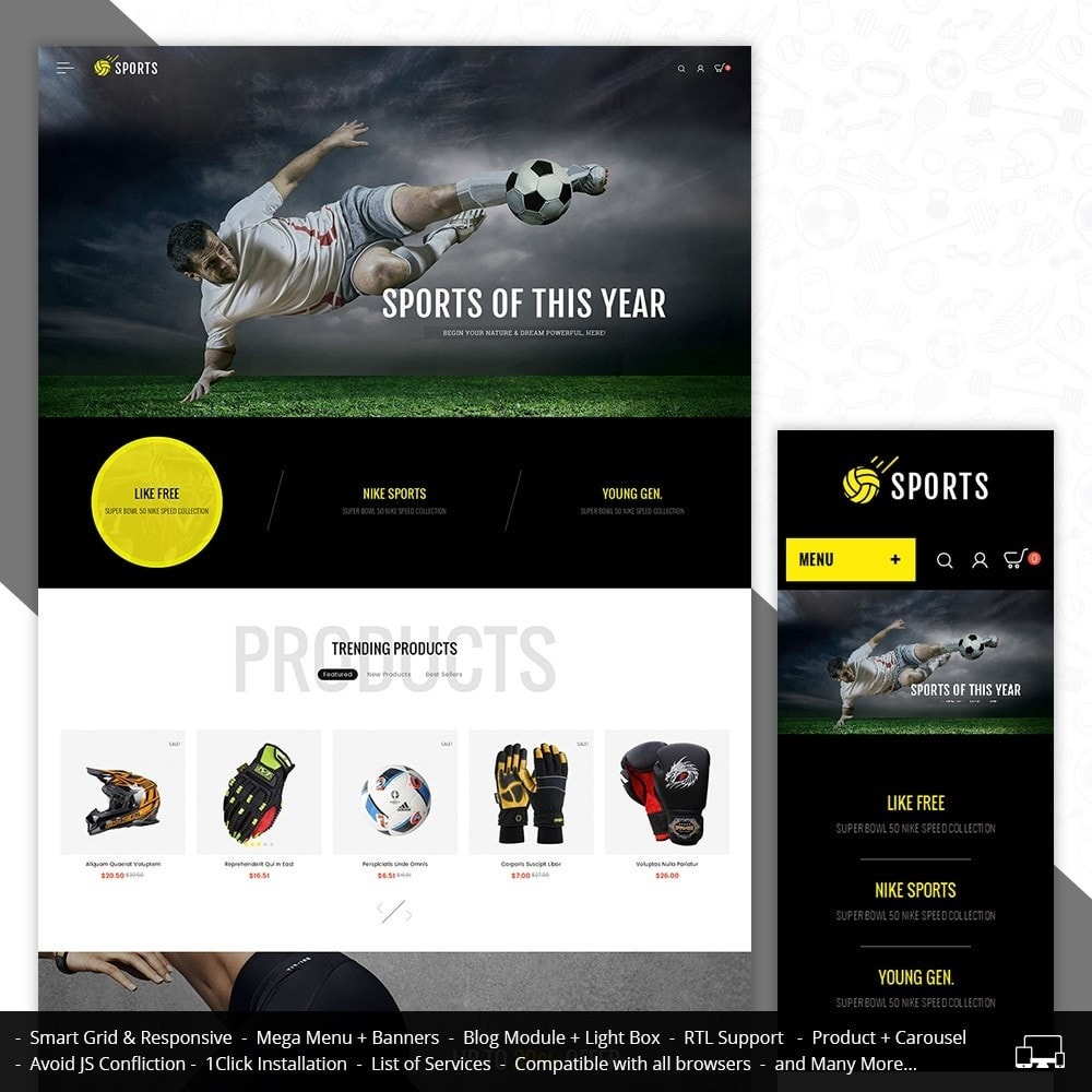 theme - Sport, Activiteiten & Reizen - Sports Store - 1