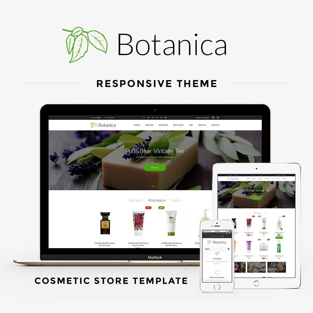 theme - Health & Beauty - Botanica Cosmetics - 1