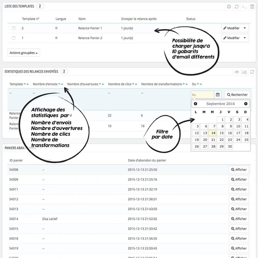 module - Remarketing & Paniers Abandonnés - Relance Panier - 2