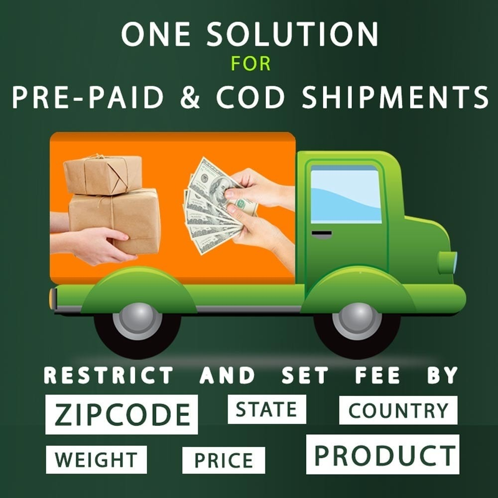 module - Оплата при доставке - Cash on Delivery COD & Shipping Fee by Zipcode, Product - 1