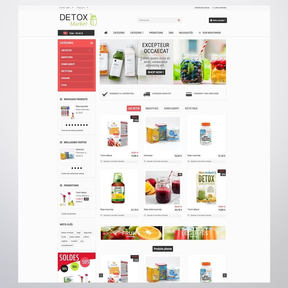 theme - Health & Beauty - Detox Market - 2