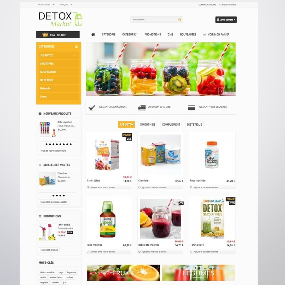 theme - Health & Beauty - Detox Market - 6