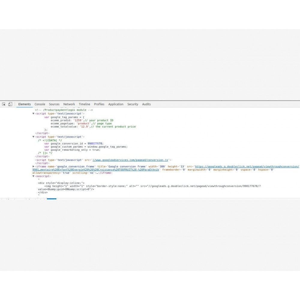 module - Remarketing & Paniers Abandonnés - Google Remarketing Tag Integration - 3