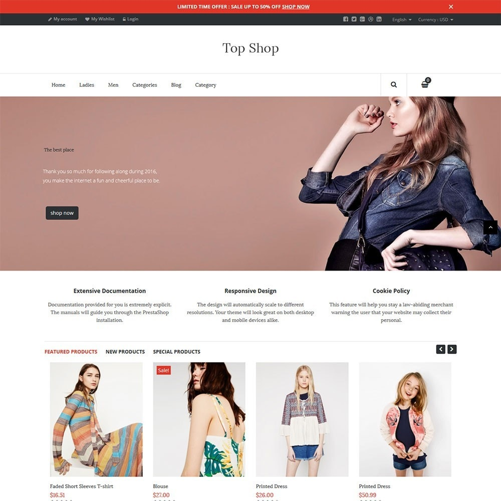 theme - Moda & Calzature - TopShop Fashion Store - 4