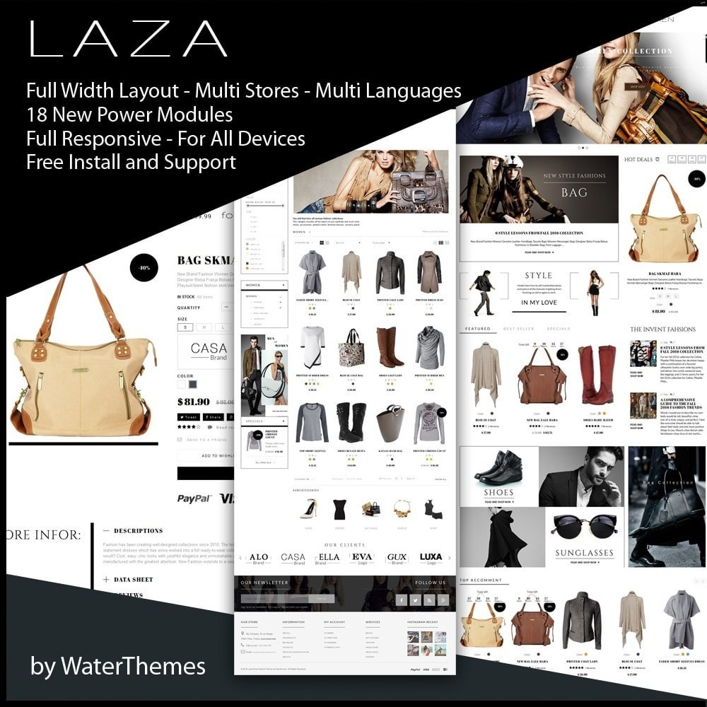 theme - Fashion & Shoes - Laza Fashion Store - 1