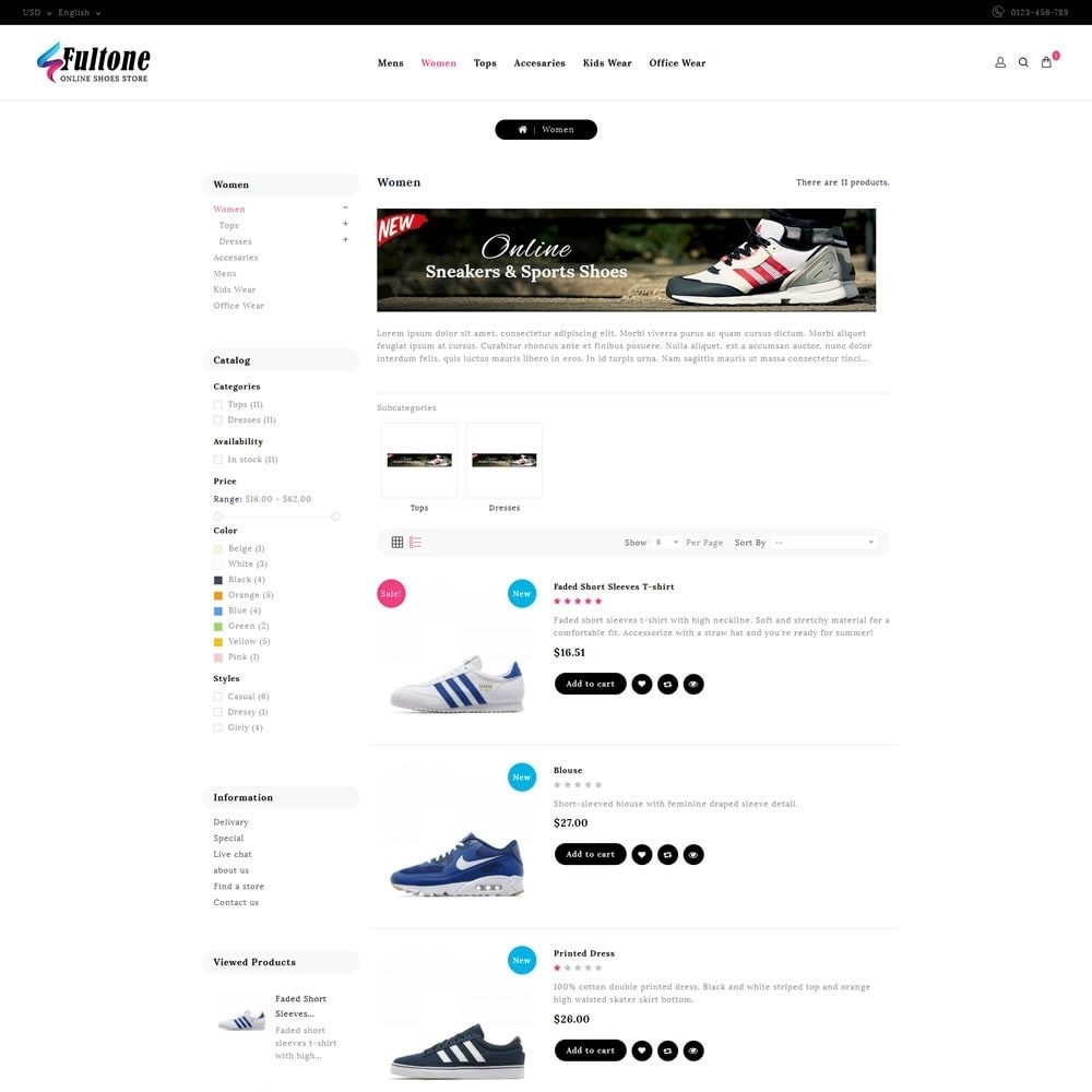 theme - Mode & Chaussures - Fultone - Footwear Store - 4