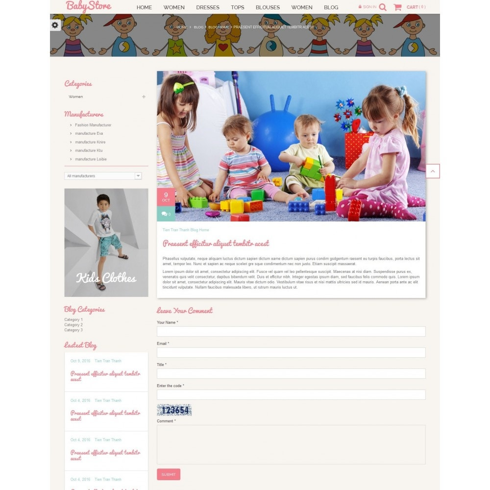 theme - Kids & Toys - Smart Baby And Kids Store - 8