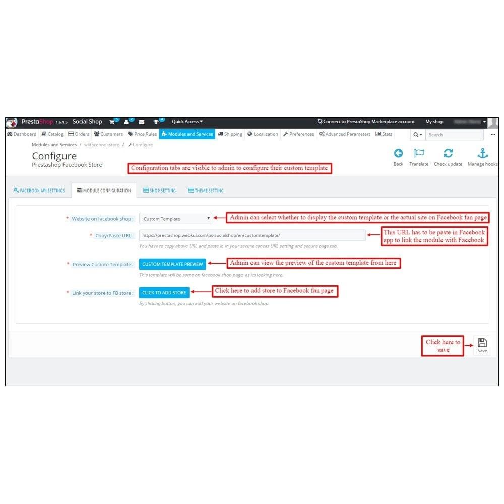 module - Produkten op Facebook & sociale netwerken - Webkul Social promotion of E-store - 4