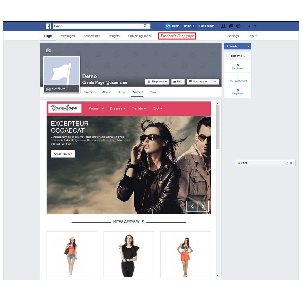 module - Products on Facebook & Social Networks - Webkul Social promotion of E-store - 22