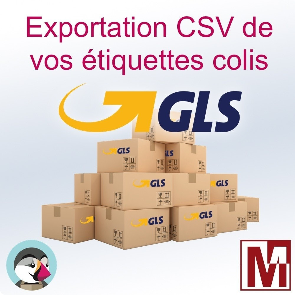 module - Préparation & Expédition - GLS - Export CSV pour édition d'étiquettes - 1