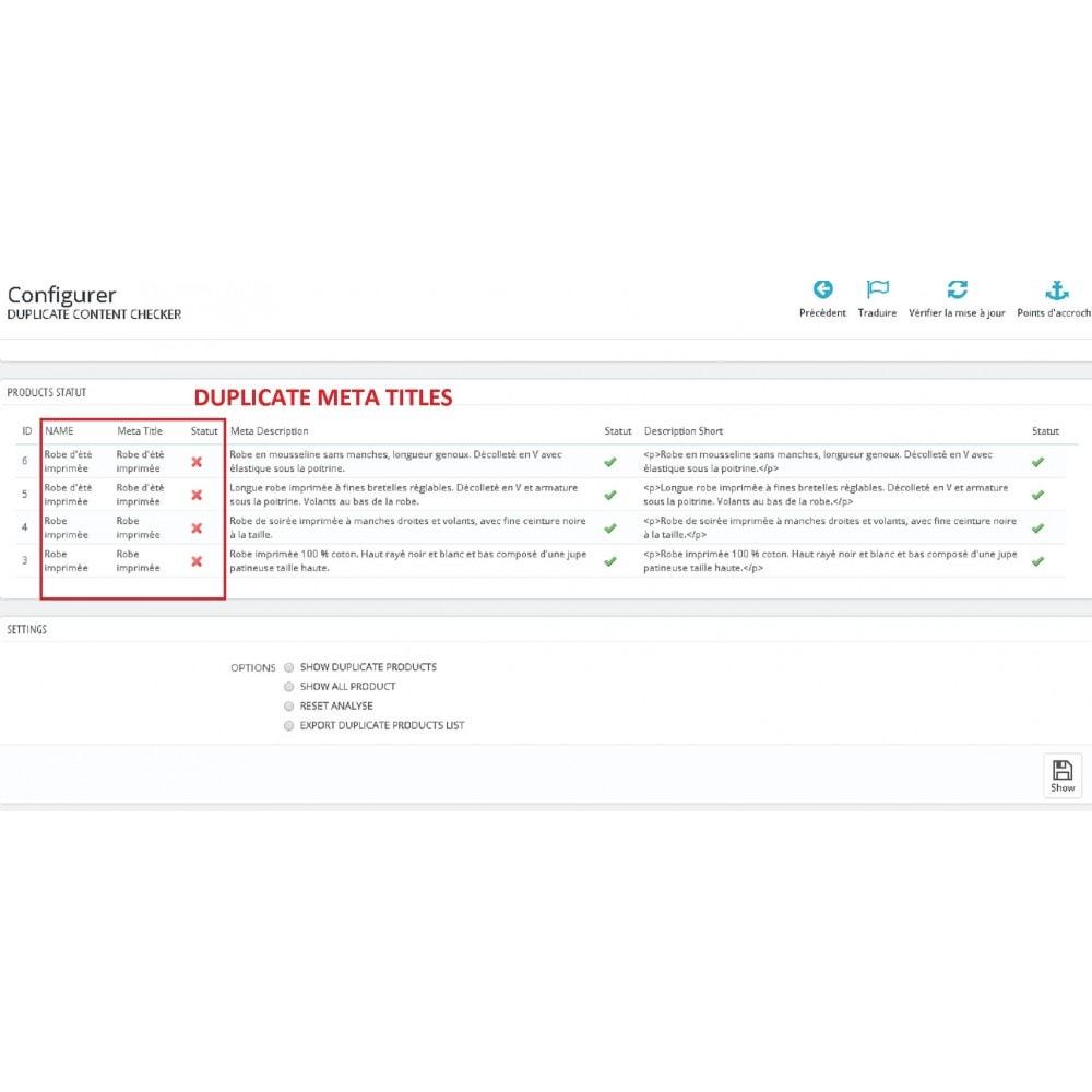 module - SEO (Posicionamiento en buscadores) - DUPLICATE CONTENT CHECKER - 1