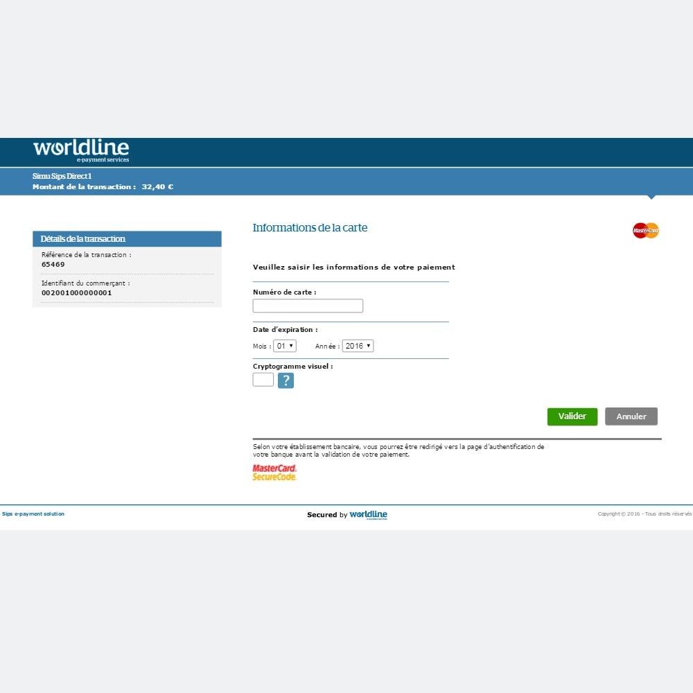 module - Paiement par Carte ou Wallet - Sogenactif 2.0 - Société Générale Atos Sips Worldline - 7