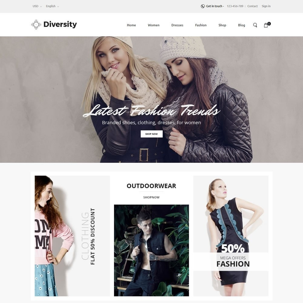 theme - Moda & Calzature - Diversity - Fashion Store - 2