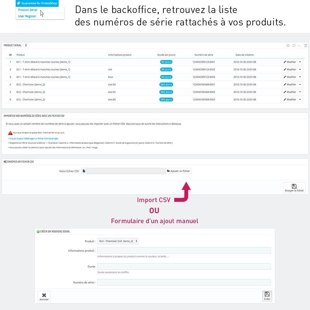 module - Inscription & Processus de commande - Enregistrement de garantie produit par le client - 3