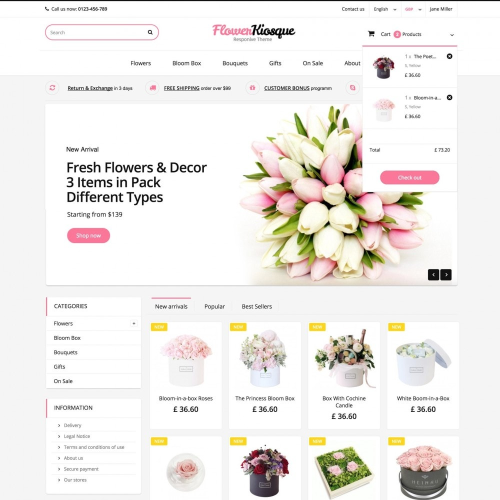 theme - Regali, Fiori & Feste - Flower Kiosque - 2
