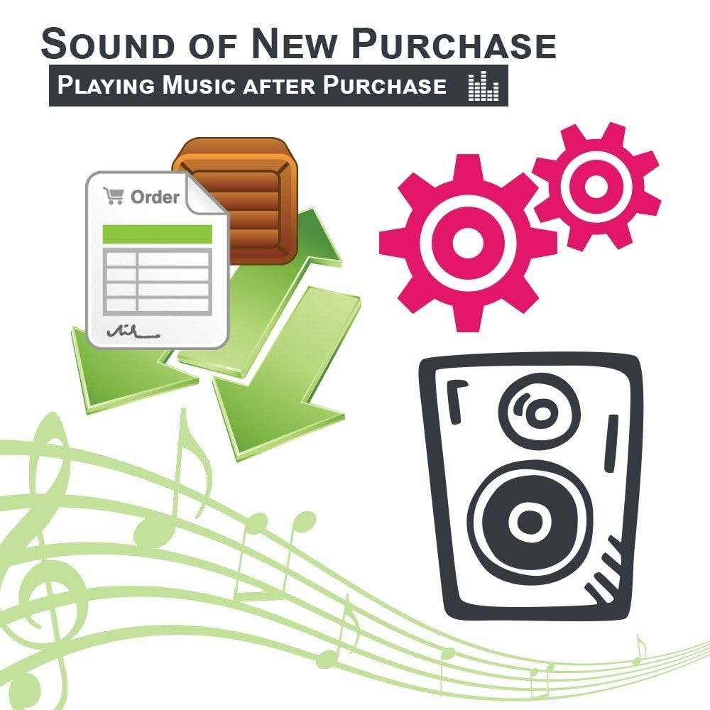 module - Auftragsabwicklung - Sound of New Purchase Playing Music after Purchase - 1