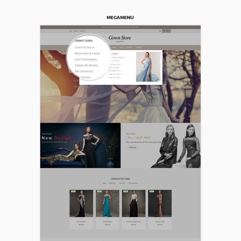 theme - Мода и обувь - Ap Gown Store - 2