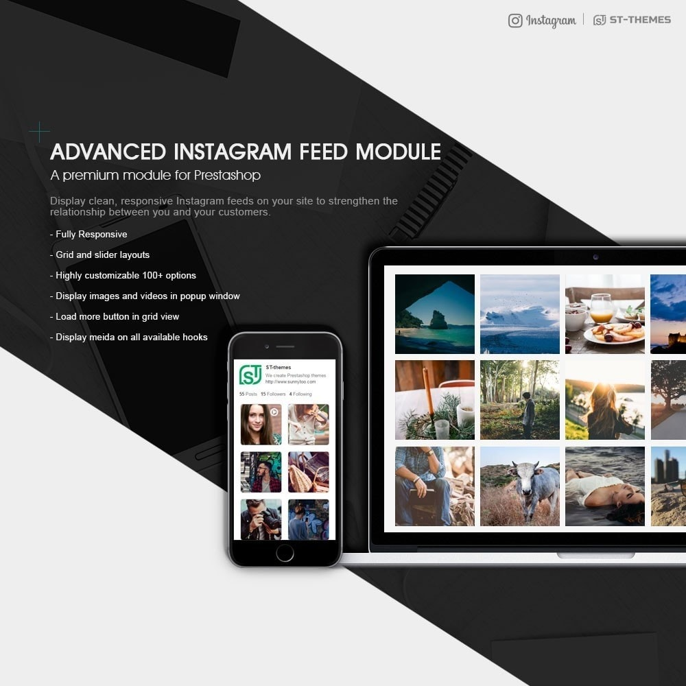 module - Widgets de Redes Sociais - Advanced social feed - 1