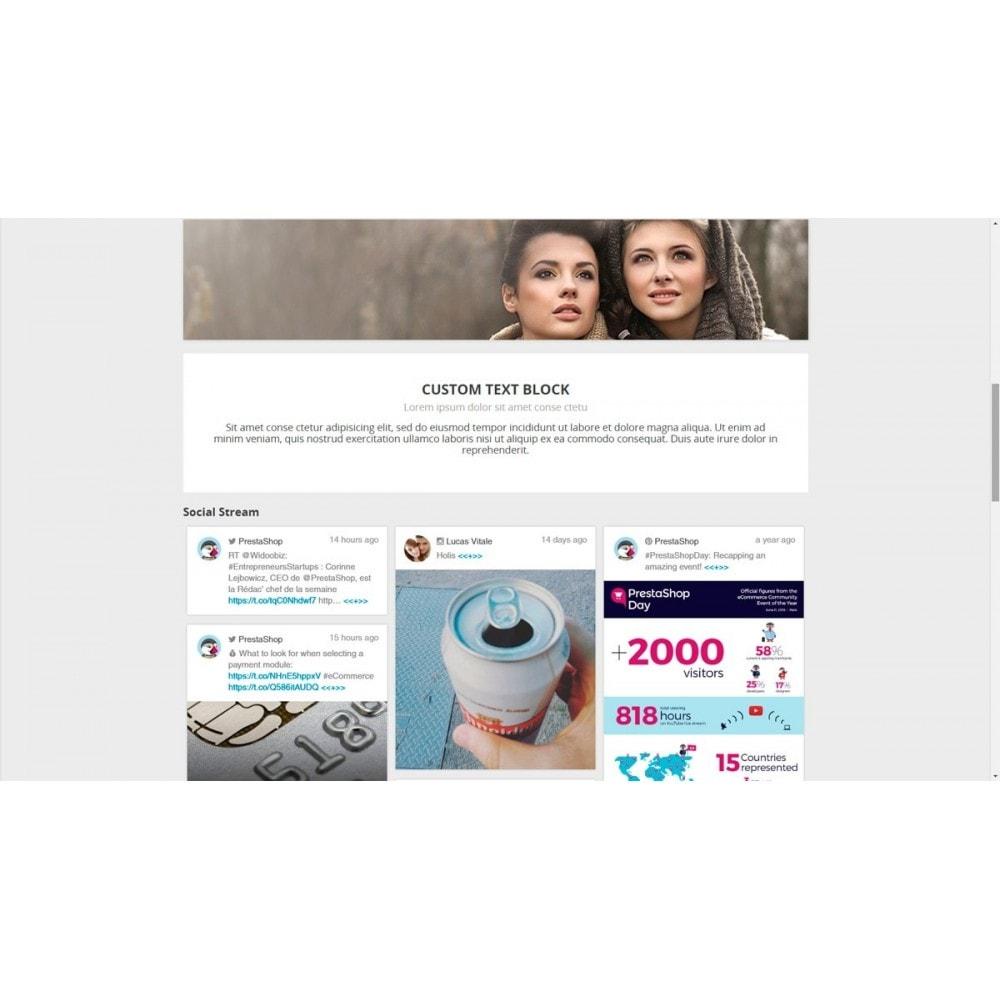 module - Widgets para redes sociales - Presta Social Stream - 8