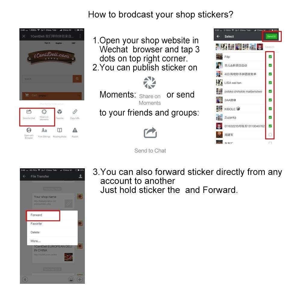 module - Produkte in Facebook & sozialen Netzwerken - Wechat Marketing - 3
